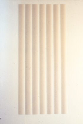 7-Part Wall Piece, 1970, cast polyester resin, 84 x 6.5 x 1″ each, 7 bars