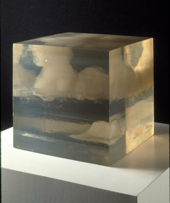 Cloud Box, 1966, cast polyester resin, 10 x 10 x 10″