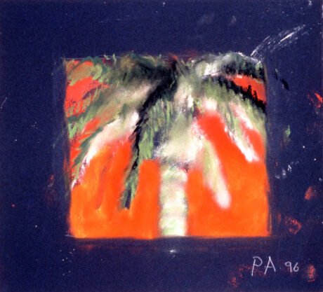 Keystone, 1996, pastel on paper, 9 x 10″