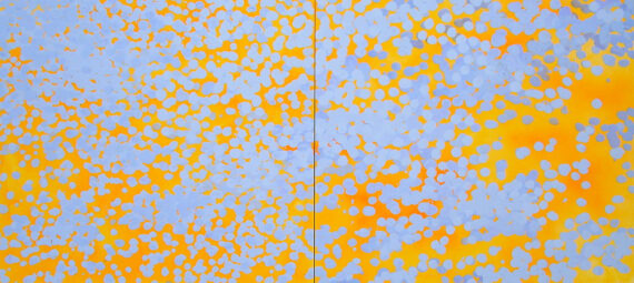 Loquat, 2004, acrylic on panel, 36 x 80″