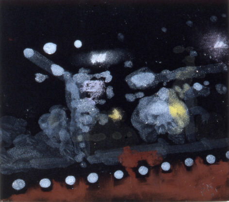 Virginia, 2001, acrylic and pastel on paper, 8 x 10″