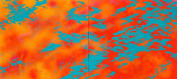 Mango, 2004, acrylic on panel, 48 x 106″