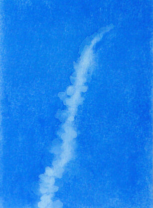 Ten Days in the Desert #15, 2007, pastel gouache and watercolor on paper, 9 x 6″