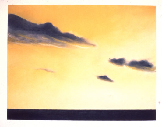 Untitled, 1973, pastel on paper, 21 x 27″