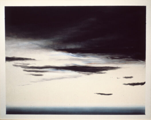 Untitled (Sunset), 1973, pastel on paper, 22 x 30″