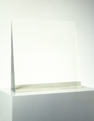 Window, 1969, cast polyester resin, 20 x 20 1/2 x 4″