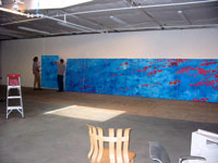 "Trial installation of ""Blue"" at Frank Gehry's studio"