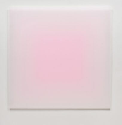 8/7/12 (Big Pink Square), 2012, urethane, 60 x 60″
