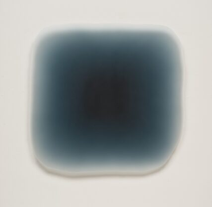 11/24/13 (Blue Black Puff), 2013, urethane, 35 x 36 x 1 1/2″