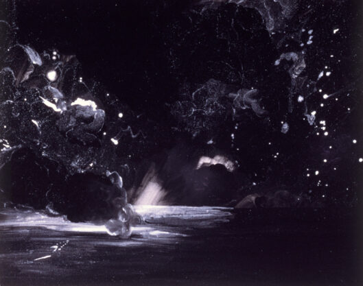 Explosion, 1976, acrylic on paper, 22 x 28″