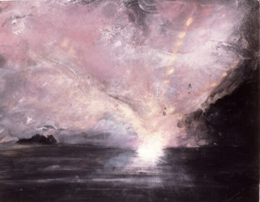 Explosion, 1976, gouache and pastel on paper, 22 x 28″