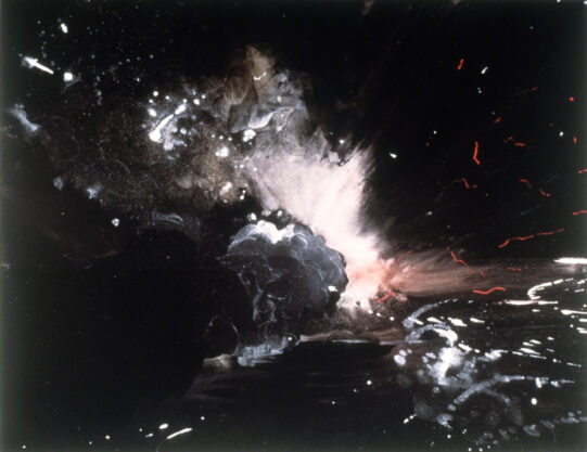 Explosion Series, 1976, pastel, 22 x 30″