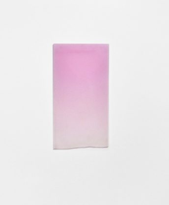 Untitled (Pink Drip), 2010, cast polyester resin, 26 1/4 x 14 1/4 x 1 1/4″