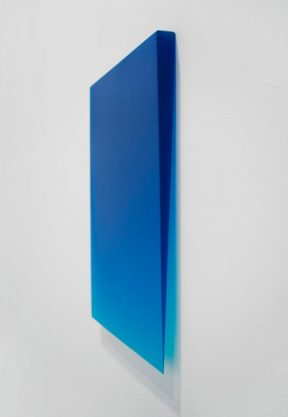 Royal Blue Drip, 2010, polyester resin, 15 x 12 x 1″