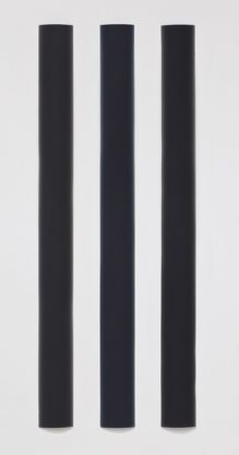 Black Bar Triptych, 2010, polyester resin, 60 x 23″