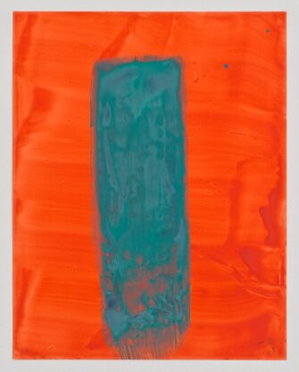Untitled (19), 2013, gouache on paper, 14 x 11″